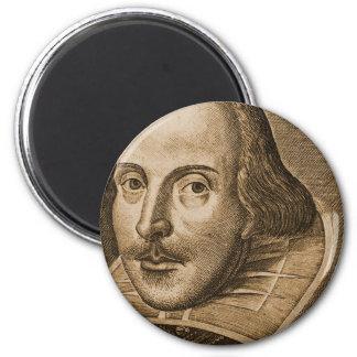 Grabados de Shakespeare Droeshout Imán Redondo 5 Cm