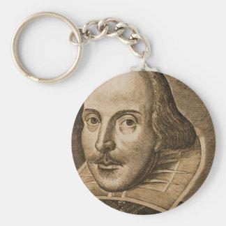 Grabados de Shakespeare Droeshout Llavero Redondo Tipo Pin