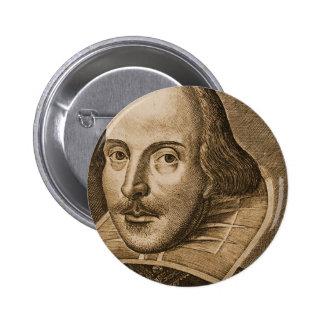 Grabados de Shakespeare Droeshout Pin Redondo De 2 Pulgadas