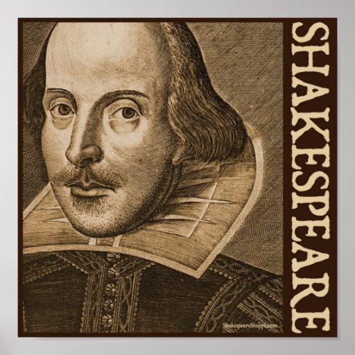 Grabados de Shakespeare Droeshout Póster