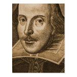 Grabados de Shakespeare Droeshout Tarjetas Postales
