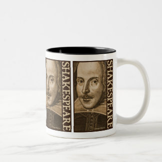 Grabados de Shakespeare Droeshout Taza De Dos Tonos