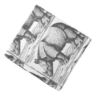 Grabar en madera antiguo del rinoceronte para los