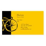 Grabar en madera artsy de la bici tarjetas de visita