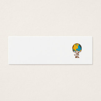 Grabar en madera de elevación del arrodillamiento tarjetas de visita mini