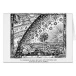 Grabar en madera de Flammarion del universo Tarjeta