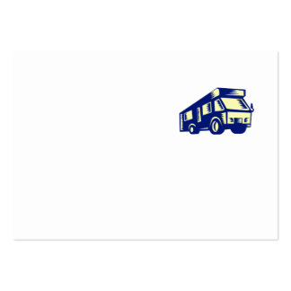 Grabar en madera de la autocaravana de la tarjetas de visita grandes