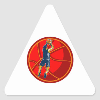 Grabar en madera de la bola del tiro en suspensión calcomanías de triangulos personalizadas