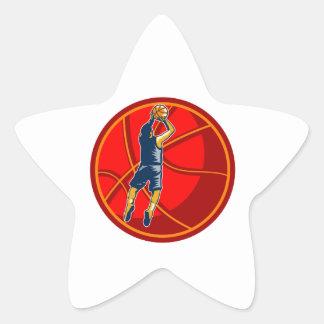Grabar en madera de la bola del tiro en suspensión colcomanias forma de estrellaes