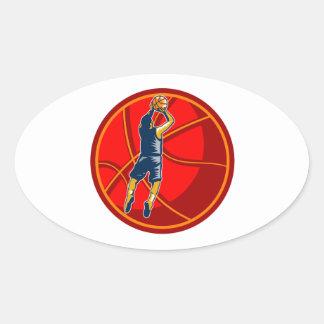 Grabar en madera de la bola del tiro en suspensión calcomanías óvales