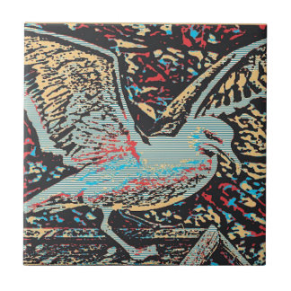 Grabar en madera de la gaviota azulejos ceramicos