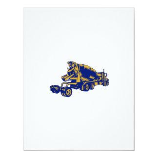 """Grabar en madera de la parte posterior del camión invitación 4.25"""" x 5.5"""""""