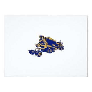 """Grabar en madera de la parte posterior del camión invitación 6.5"""" x 8.75"""""""