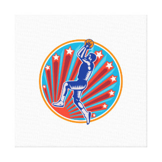 Grabar en madera del círculo de la bola del tiro e lienzo envuelto para galerías