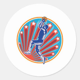 Grabar en madera del círculo de la bola del tiro e etiqueta