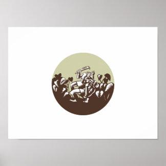 Grabar en madera del círculo del arma de Nifo'oti Póster
