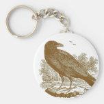Grabar en madera del cuervo llaveros personalizados