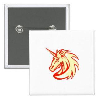 Grabar en madera del lado de la cabeza de caballo pin cuadrada 5 cm
