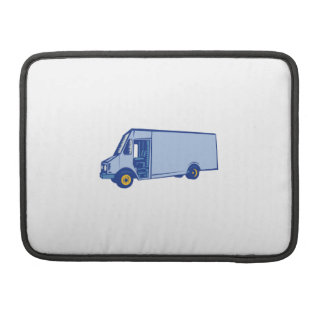 Grabar en madera lateral de Van de entrega Fundas Para Macbook Pro
