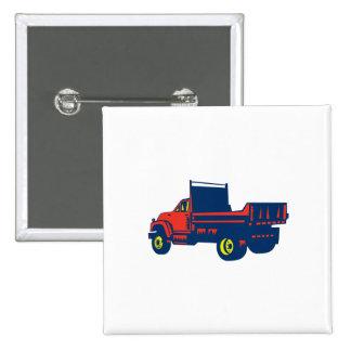 Grabar en madera plano del camión pin cuadrada 5 cm