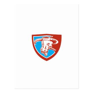 Grabar en madera principal del escudo de Bull del Postales