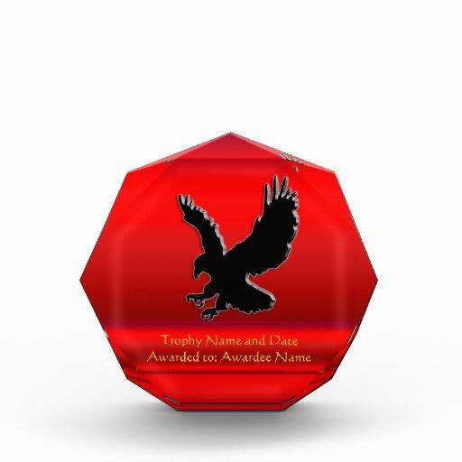Grabar en relieve-mirada Eagle negro en cromo-efec