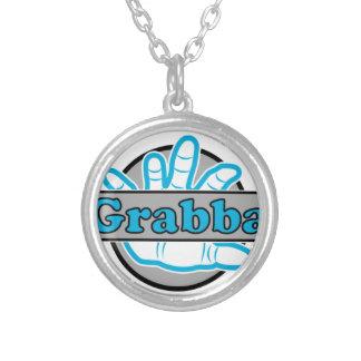 Grabba Stuff Round Pendant Necklace