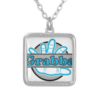 Grabba Stuff Square Pendant Necklace