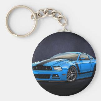 Grabber_Blue_Boss_302 Basic Round Button Keychain