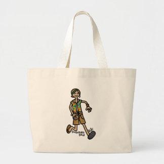 grabbin él y baggin él bolsa