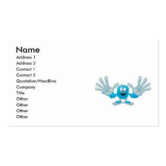 grabby slap ten furry blue goofy monster Double-Sided standard business cards (Pack of 100)