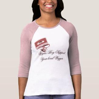Grabe la camiseta de la cinta playera