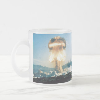 Grable Event Operation Upshot Knothole Atomic Test Frosted Glass Coffee Mug