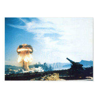 Grable Event Operation Upshot Knothole Atomic Test 5x7 Paper Invitation Card