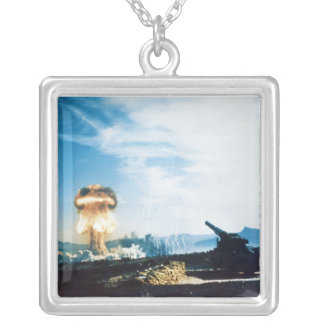 Grable Event Operation Upshot Knothole Atomic Test Square Pendant Necklace