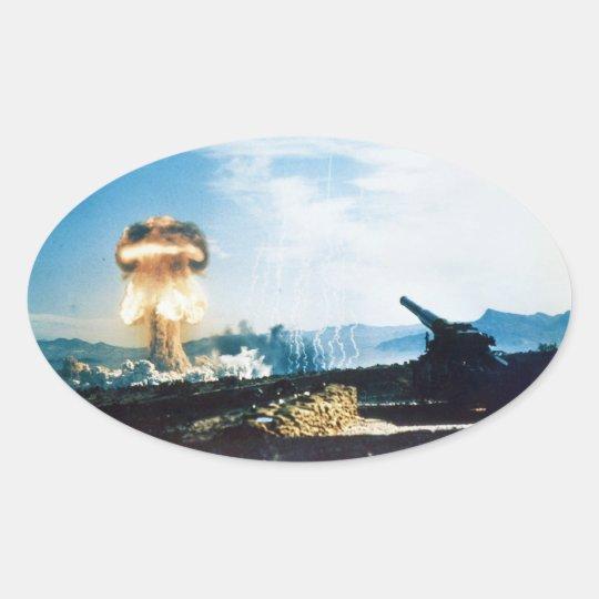 Grable Event Operation Upshot Knothole Atomic Test Oval Sticker