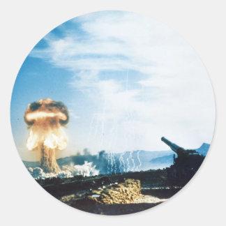Grable Event Operation Upshot Knothole Atomic Test Classic Round Sticker