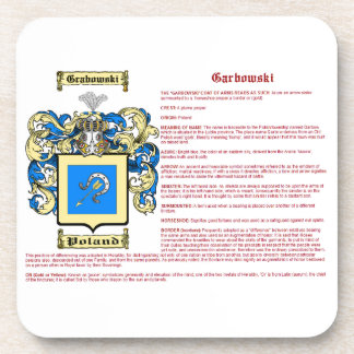 Grabowski (meaning) drink coaster