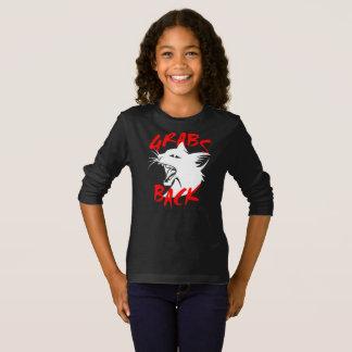 Grabs Back Girl's Dark Long Sleeve T-Shirt
