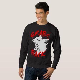 Grabs Back Men's Basic Dark Sweatshirt