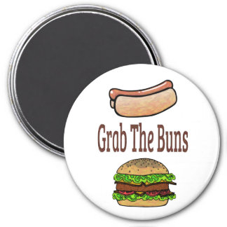 GrabTheBuns 3 Inch Round Magnet