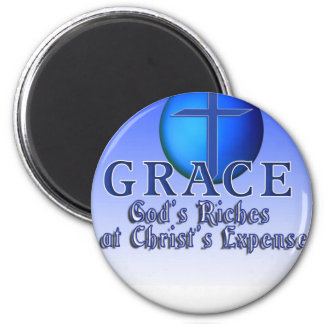 GRACE ACRONYM -GOD'S RICHES AT CHRIST'S EXPENSE MAGNET