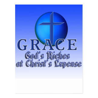 GRACE ACRONYM -GOD'S RICHES AT CHRIST'S EXPENSE POSTCARD