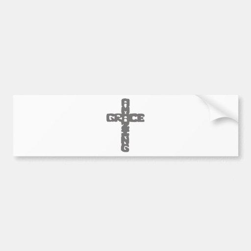 Grace-Amazing gris Bumper Sticker