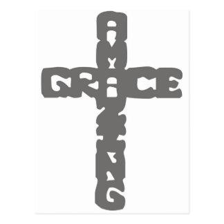 Grace-Amazing gris Postcard