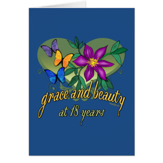 Grace and Beauty at 18 years Card