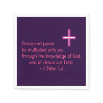 Grace and Peace Be Multiplied Unto You Napkin