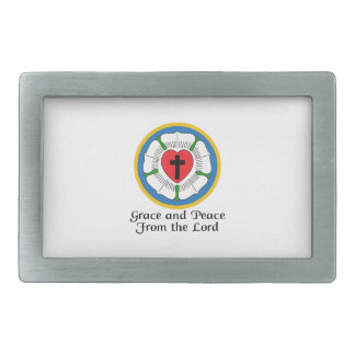 GRACE AND PEACE RECTANGULAR BELT BUCKLES