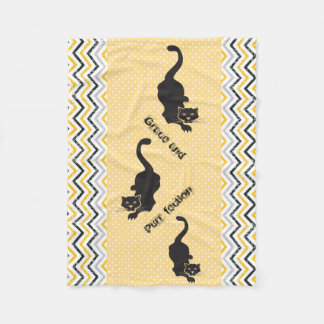 Grace and Purr-fection Black Cat Fleece Blanket
