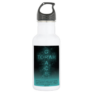 Grace and Torah Stainless Steel Water Bottle